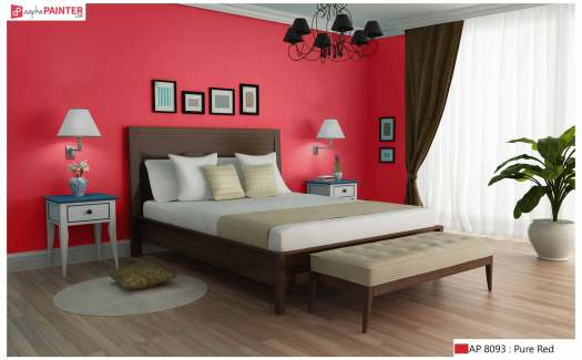 astounding red bedroom walls will | 6 Beautiful & Relaxing Bedroom Wall Painting Ideas For ...