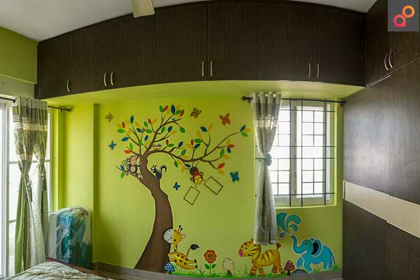 Kidsroom Wall Paint Ideas Jungle Theme Animals Aapkapainter