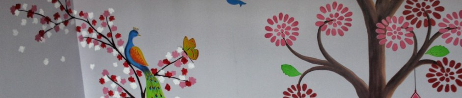 Funny and Catchy Wall Stencil Design for Walls Make Up