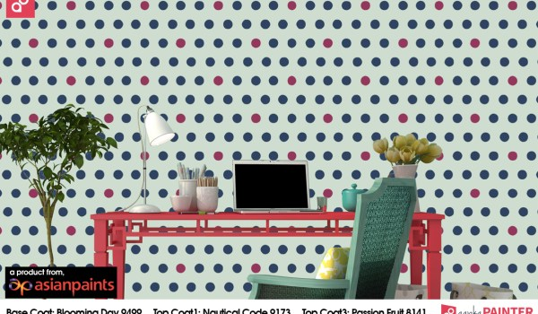 Polka dots wall stencil designs