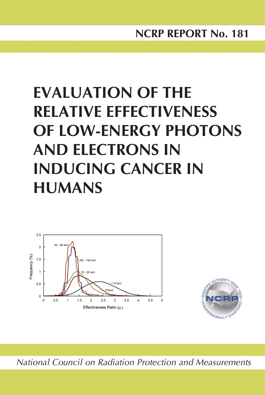 Report No. 181 - Evaluation Of The Relative Effectiveness Of Low-Energy  Photons And Electrons In Inducing Cancer In Humans (2018)