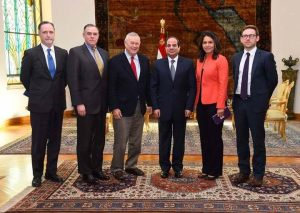 U.S. Rep. Tulsi Gabbard Meets with Egypt President el-Sisi and Other Leaders in Cairo.