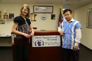 Alexis Walstad, left, and Eh Tah Khu, co-executive directors of Karen Organization of Minnesota.