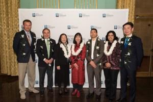 Fred Korematsu Day 2016 speakers, from left,John Sasaki, John Diaz, Lorraine Bannai, Karen Korematsu,Justice Tino Cuéllar, Farhana Khera and Grande Lum. (Contributed photo)