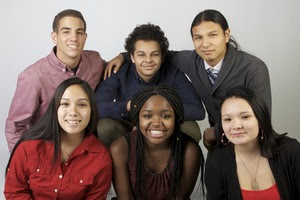 Children's Defense Fund-Minnesota 'Beat the Odds' scholarship recipients, in front, from left, Mela Nguyen, Shamaria Jordan and Hennessey Carlbom. In back, from left, Sebastien Lannelongue, Domenic Johnson and Christopher Oquist. (Contributed photo)