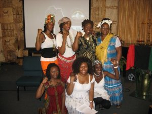 Celebrating Pan-African Women's Day in Los Angeles, CA in August 2012.
