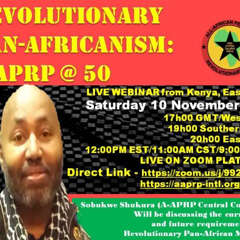 Revolutionary Pan-Africanism: A-APRP @ 50