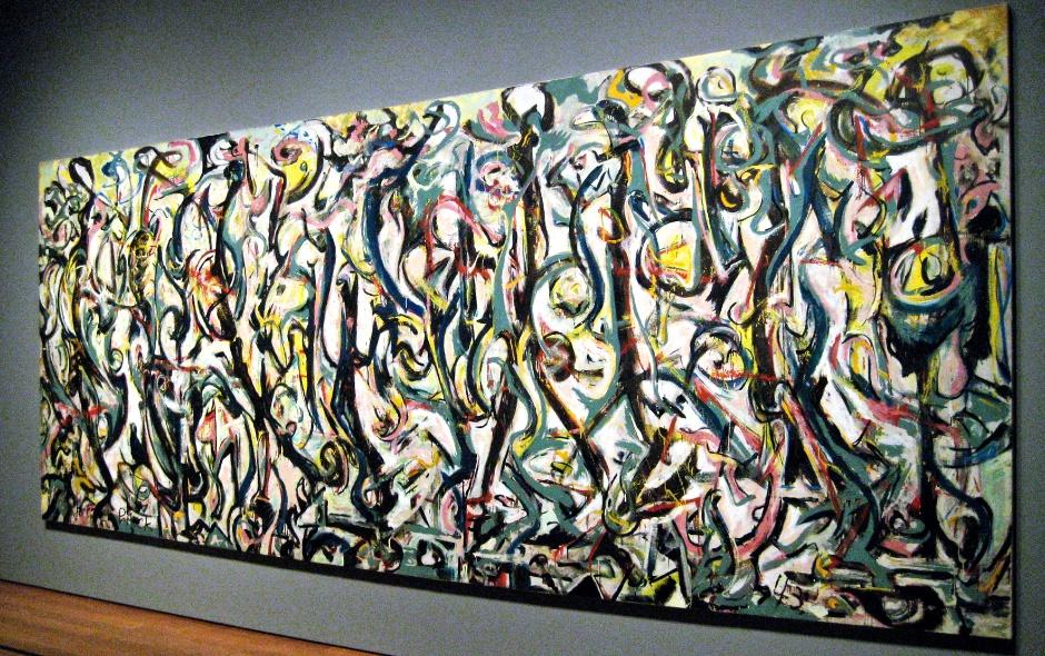 Jackson Pollock 1943 Mural At The Getty Center Art