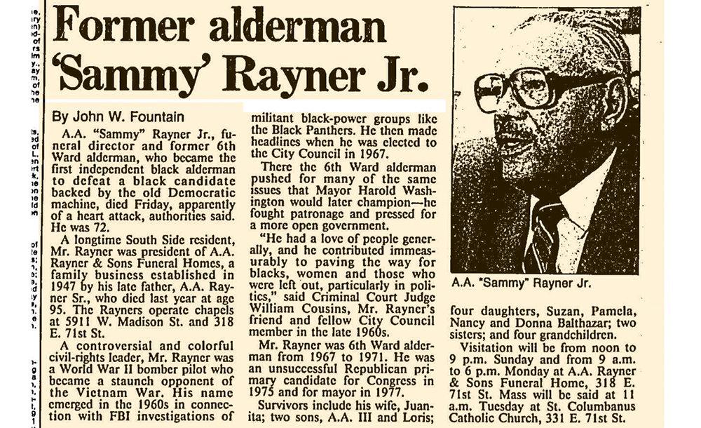 A.A. Rayner Sammy Rayner, GOP mayoral hopeful,