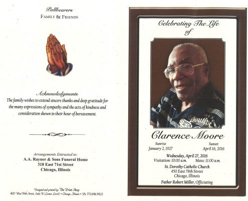Obituary of Clarence Moore