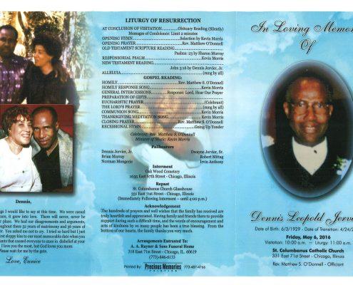 Dennis Leopold Jervier obituary