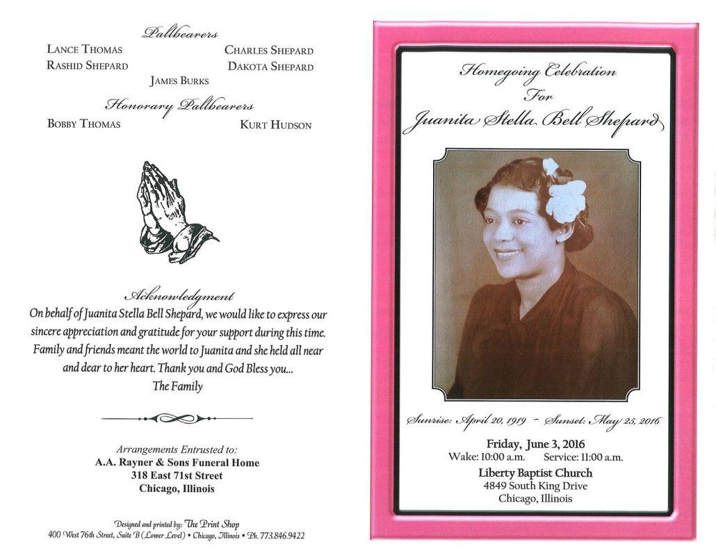 Juanita Stella Bell Shepard Obituary