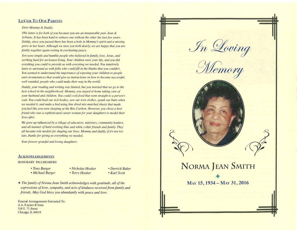 Norma Jean Smith Obituary