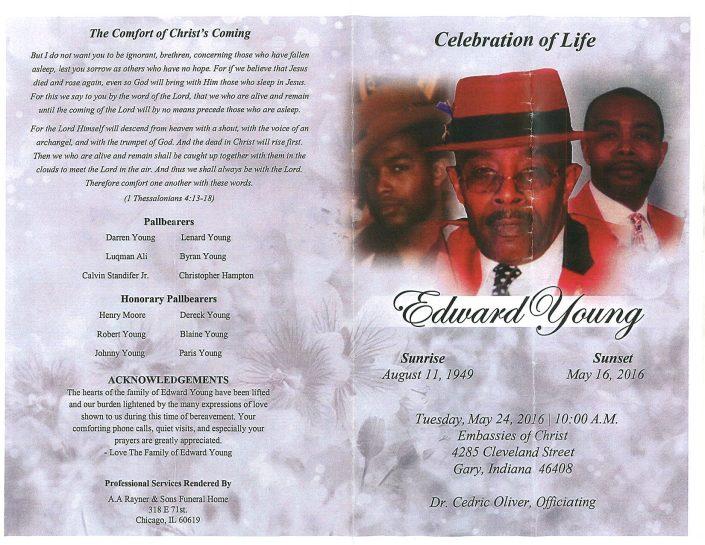 Edward Young Obituary