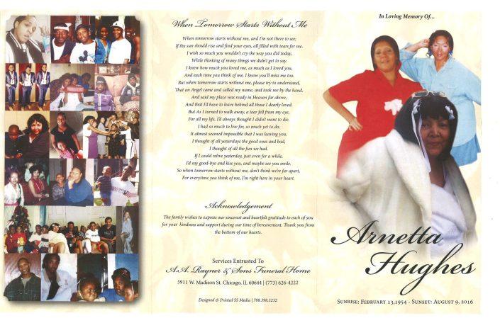 Arnetta Hughes Obituary