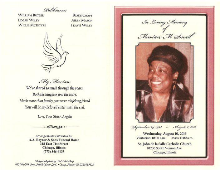 Marian M Small Obituary 2159_001