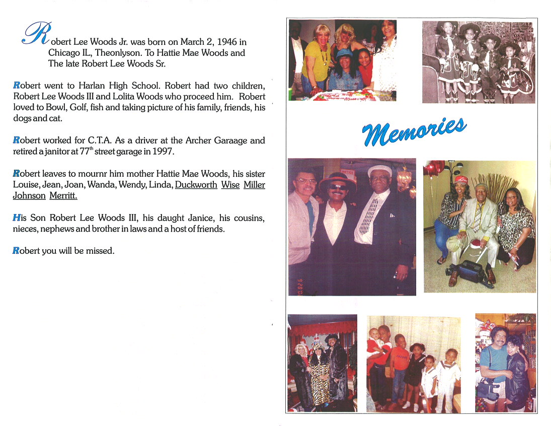 Robert Lee Wood Jr Obituary | AA Rayner and Sons Funeral Home