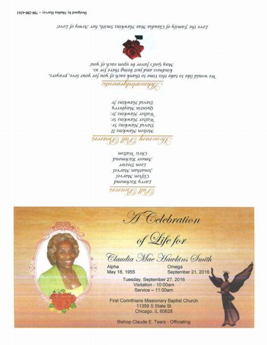 Claudia Mae Smith Obituary 2340_001