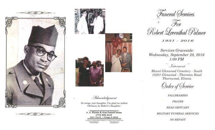 Robert Leventhal Palmer Obituary