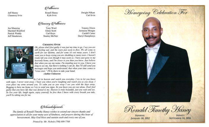 Ronald Timothy Haney Obituary