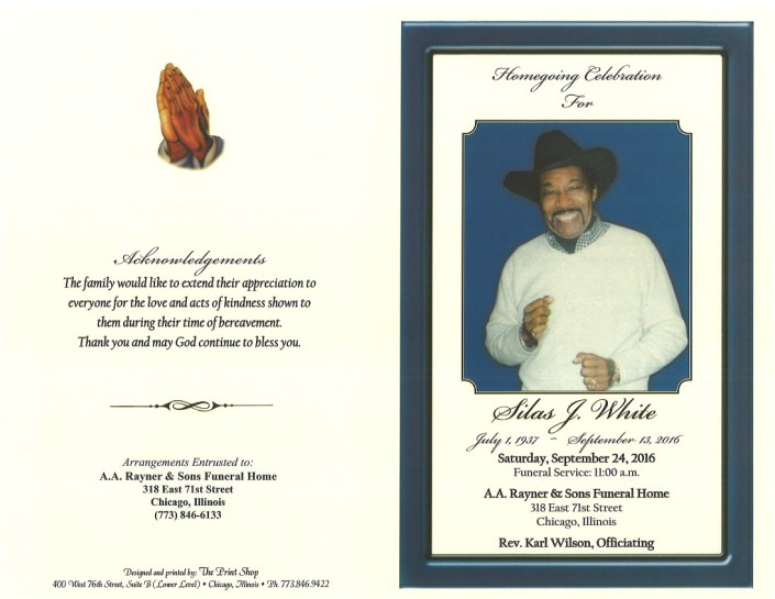 Silas J White Obituary
