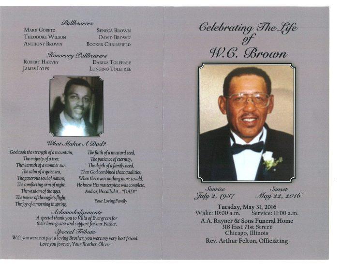WC Brown Obituary