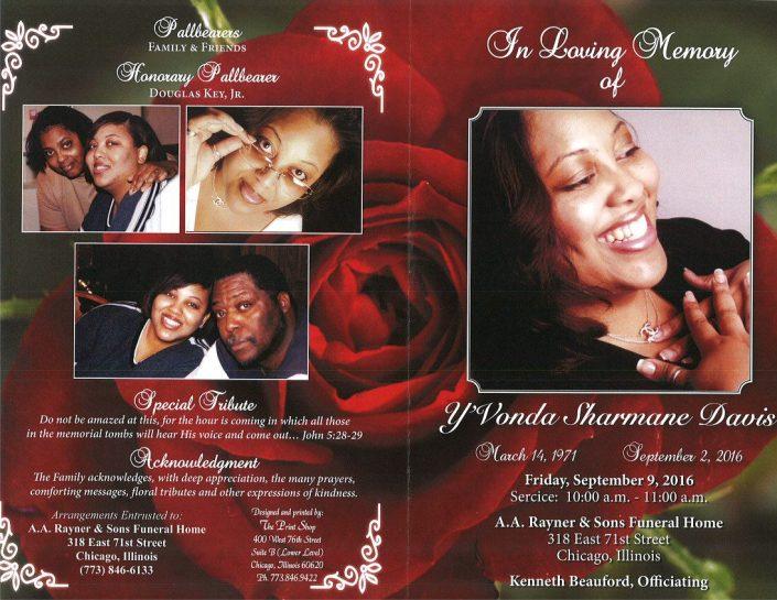 Yvonda Sharmane Davis obituary 2267_001