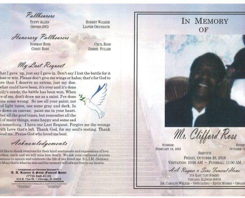 Mr Clifford Ross Obituary