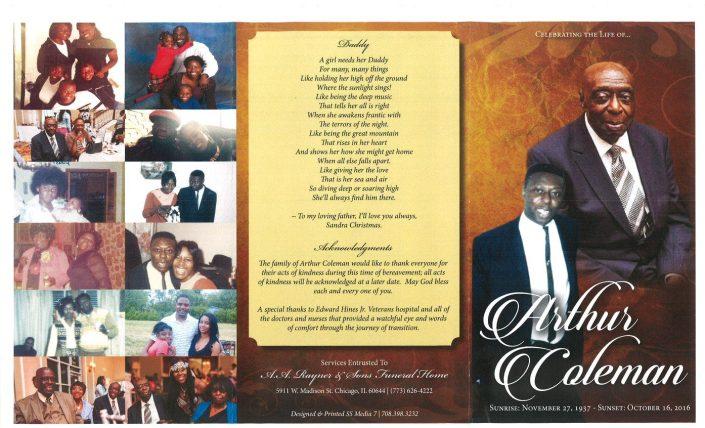 Arthur Coleman Obituary