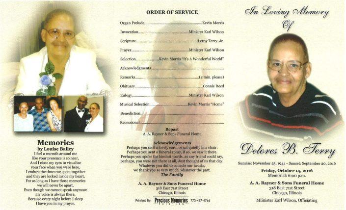 Delores B Terry Obituary
