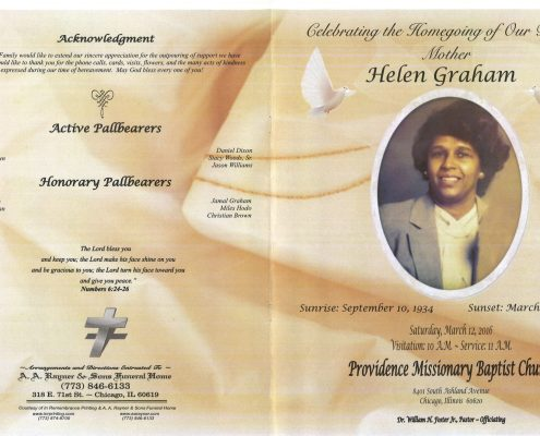 Helen Graham Obituary