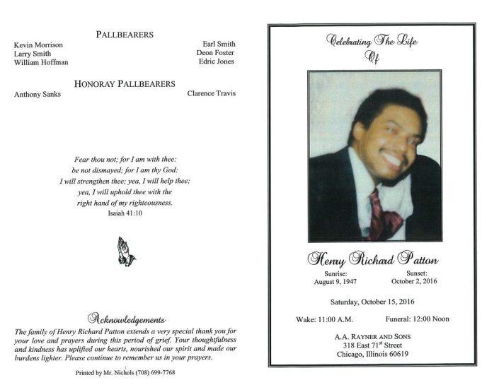 Henry Richard Patton Obituary