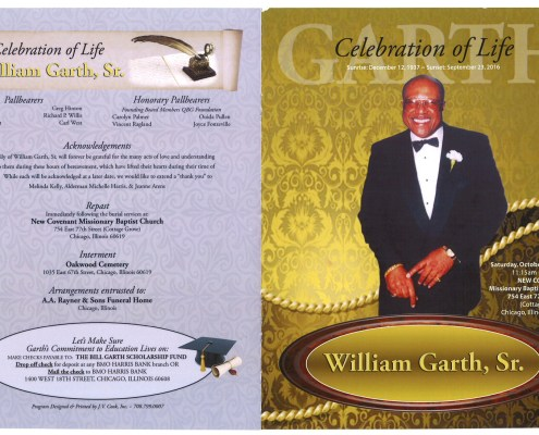 William Garth Sr Obituary