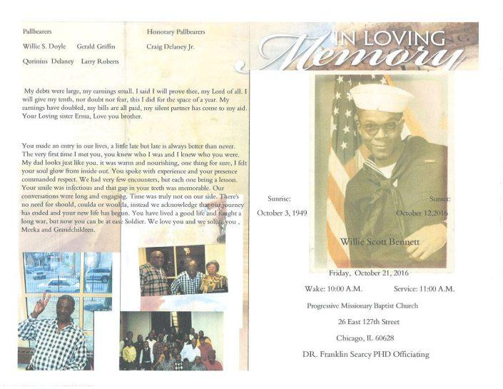 Willie Scott Bennett Obituary