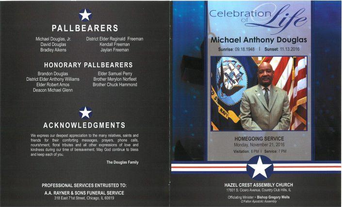 Michael Anthony Douglas Obituary