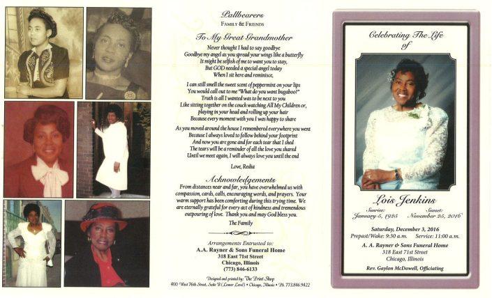 Lois Jenkins Obituary