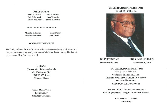 Isom Jacobs Jr Obituary