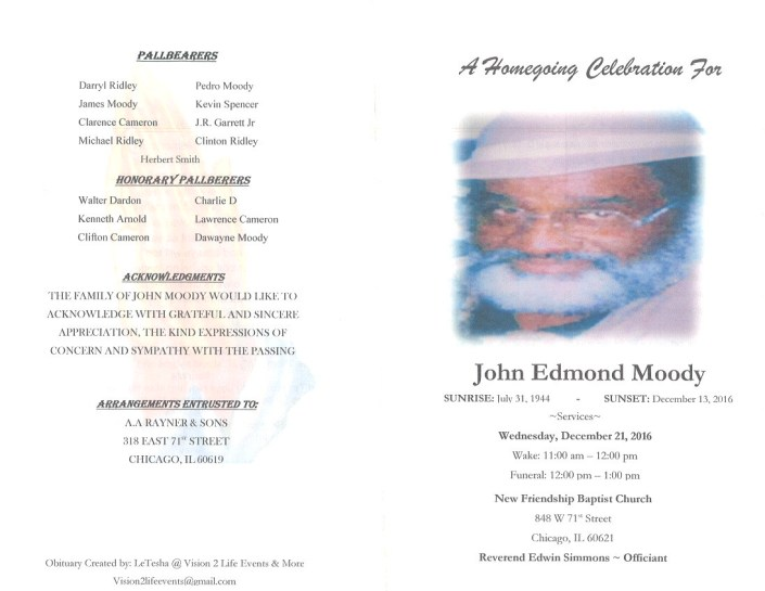 John Edmond Moody Obituary