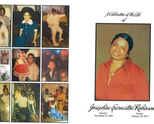 Josephine Earnestine Robinson Obituary