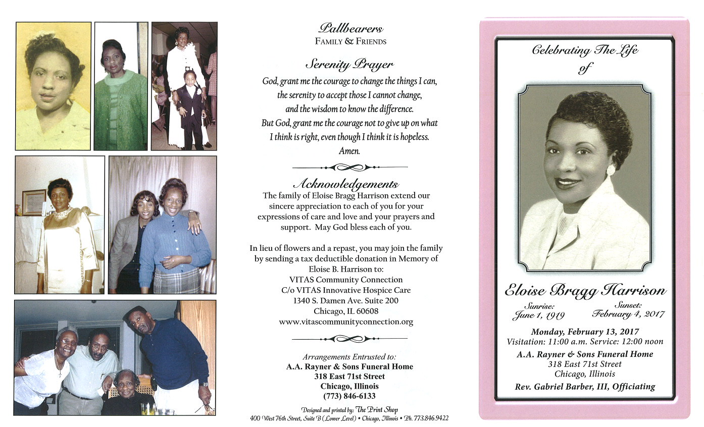 Eloise Bragg Harrison Obituary Aa Rayner And Sons Funeral Home
