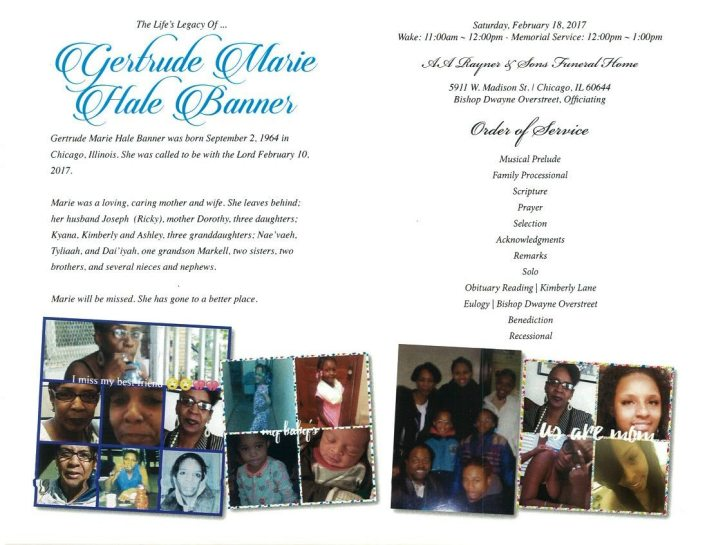 Gertrude Marie Hale Banner Obituary