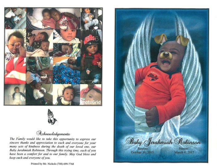 Baby Jerahmiah Robinson Obituary