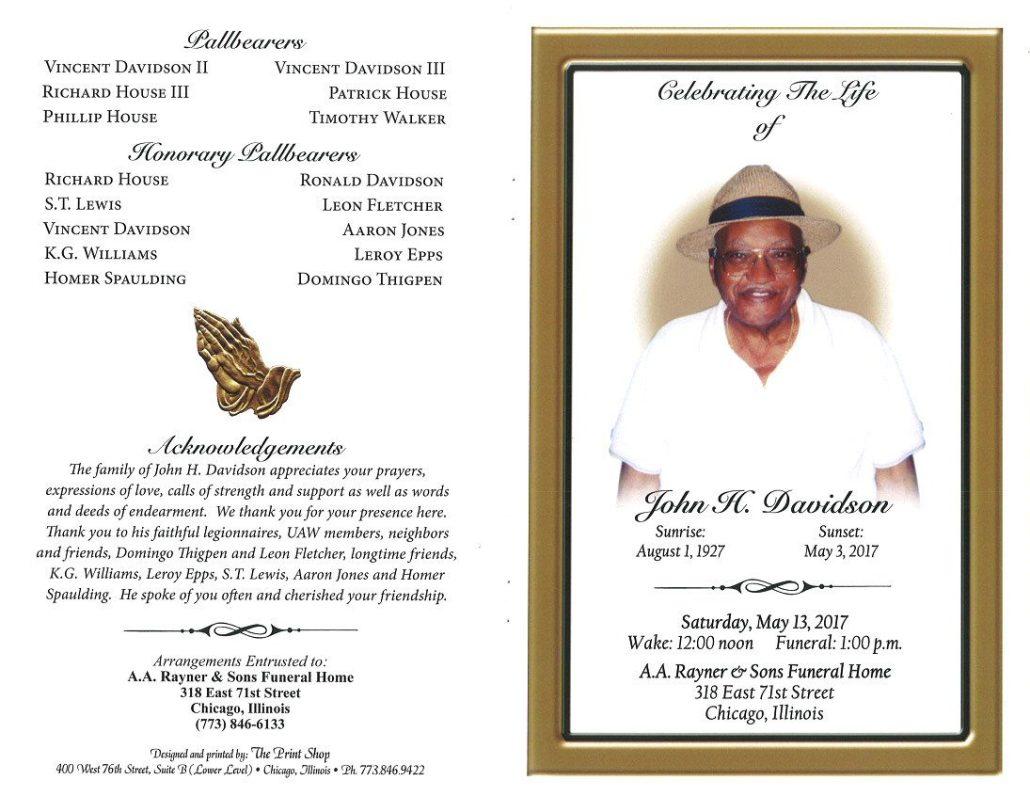 John H Davidson Obituary