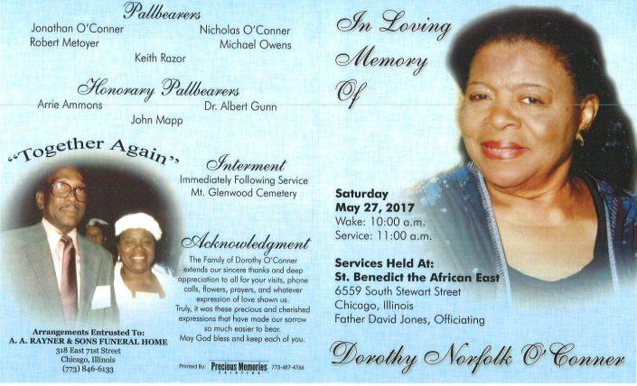 Dorothy Norfolk O Conner Obituary