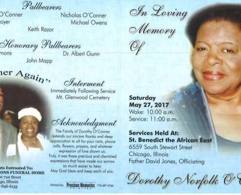 Dorothy Norfolk O Conner Obituary