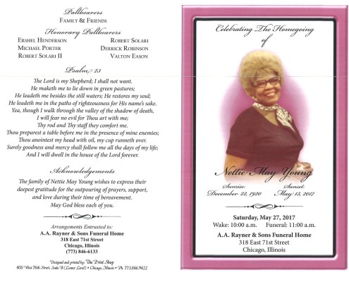 Nettie May Young Obituary