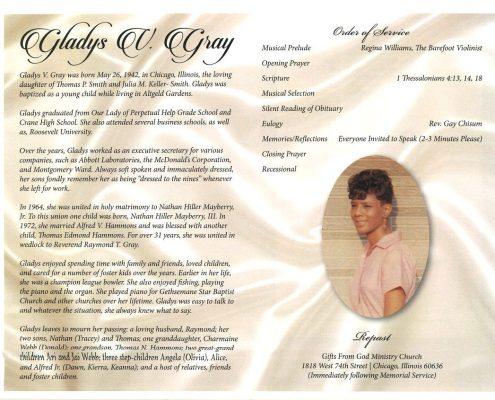 Gladys V Gray Obituary