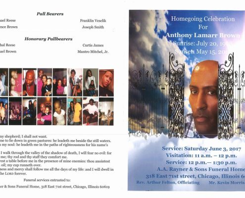Anthony Lamarr Brown Obituary