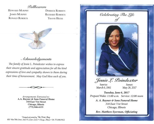 Jessie L Poindexter Obituary