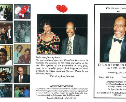 Donald Fredrick Husband Obituary